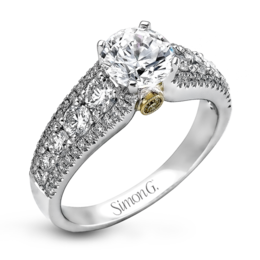 Simon G 18K White & Yellow Gold Modern Diamond Engagement Ring image 1