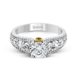 Simon G 18K White & Yellow Gold Modern Diamond Engagement Ring image 3