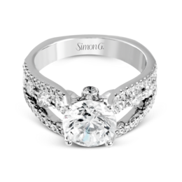 Simon G 18K White Gold Classic Design Modern Diamond Engagement Ring image 3