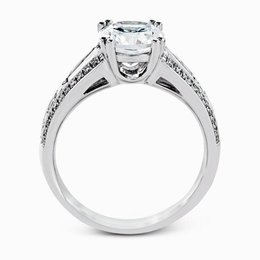 Simon G 18K White Gold Charming Contemporary Engagement Ring image 3