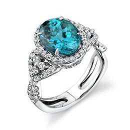 Simon G Blue Zircon Diamond Ring