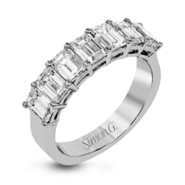 Simon G 18K White Gold Graceful Diamond Wedding Band image 2