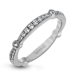 Simon G 18K Dazzling Contemporary Diamond Wedding Band image 2