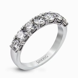 Simon G Platinum Dazzling Classic Design Diamond Wedding Band image 2