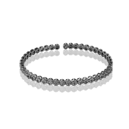 Simon G 18K White Gold Charming Flowers Diamond Bracelet image 2