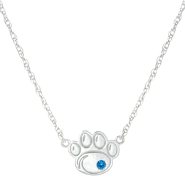 PSU Sterling Silver Paw Pendant image 2