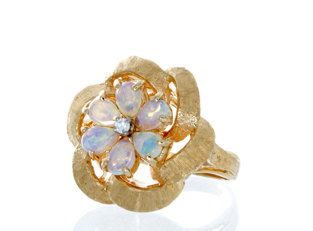 Vintage Estate Opal Ring image 2