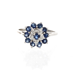 Blue Stone Estate Ring image 2