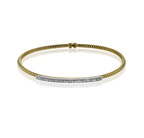Simon G 18K Yellow Gold Diamond Bangle LB2151-Y image 2