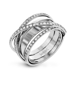 Simon G 18K White Gold Diamond Ring LR1107 image 2