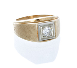 Vintage Men's Estate Diamond Ring image 2