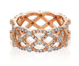 Verragio Eterna 4022-Rose Wedding Band image 2