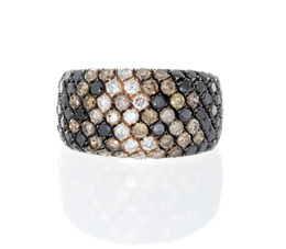 Black, White, and Brown Diamond Ring image 2