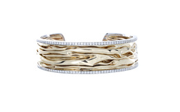 Two-Tone Diamond Cuff Bracelet image 2