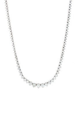 Graduated Diamond Tennis Necklace image 2