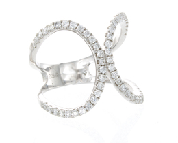 18K White Gold Diamond Fashion Ring image 2