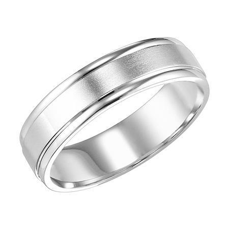 Polenza Gents Brushed Finish Wedding Band image 2