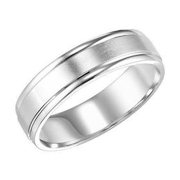 Polenza Gents Brushed Finish Wedding Band image 1