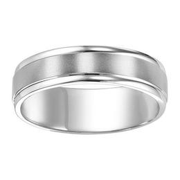 Polenza Gents Brushed Finish Wedding Band image 3