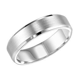 Polenza Gents Crisp Brushed Finish Wedding Band image 2