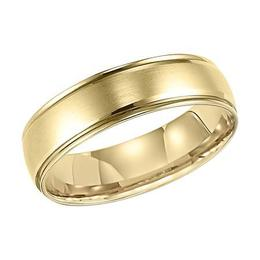 Polenza Gents Yellow Gold Satin Finish Wedding Band image 2