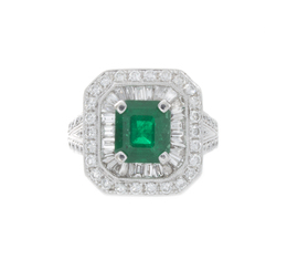 Vintage Emerald and Diamond Ring image 2