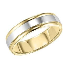 Polenza Gents Two-Tone Polished Finish Wedding Band image 2