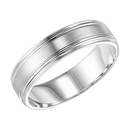 Polenza Gents Double Stepped Edge Wedding Band image 2