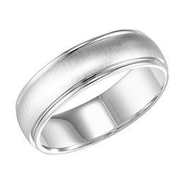 Polenza Gents Lustrous Brushed Finish Wedding Band image 2