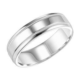 Polenza Gents Bright Finish Wedding Band image 2