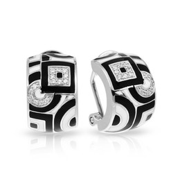 Geometrica Black and White Earings image 2