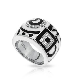 Geometrica Black and White Ring  image 2