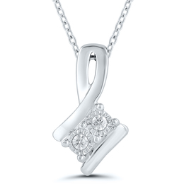 Two Stone Diamond Pendant image 2