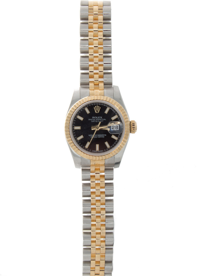 Rolex Pre - Owned 26mm  Stainless Steel and Gold Watch image 2