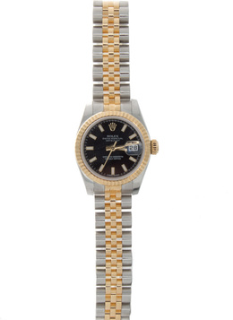 26mm Pre-Owned Stainless Steel and Gold Watch image 2