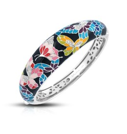 Butterfly Kisses Black Bangle  image 2