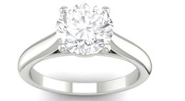 Martin Flyer White Gold Solitaire Engagement Ring image 2