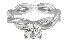 Martin Flyer Twisted Solitaire Ring image 2
