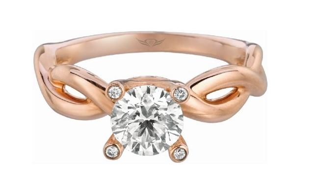 Martin Flyer Rose Gold Twisted Solitaire image 2