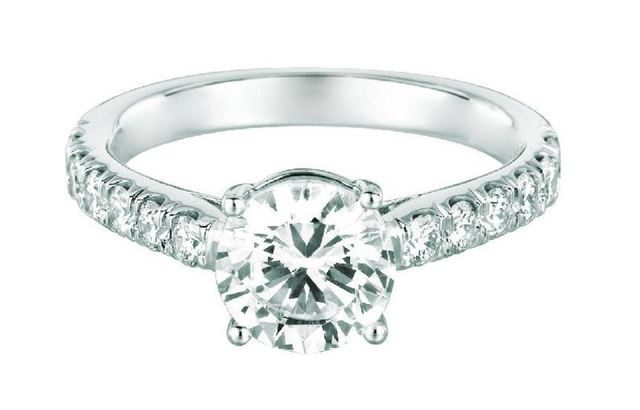 Martin Flyer Pave Set Diamond Engagement Ring image 2