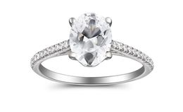 Martin Flyer Pave Diamond Oval Engagement Ring image 2