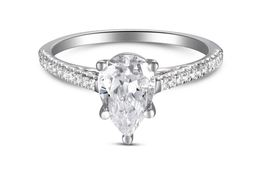 Martin Flyer Pear Shaped Pave Engagement Ring image 2