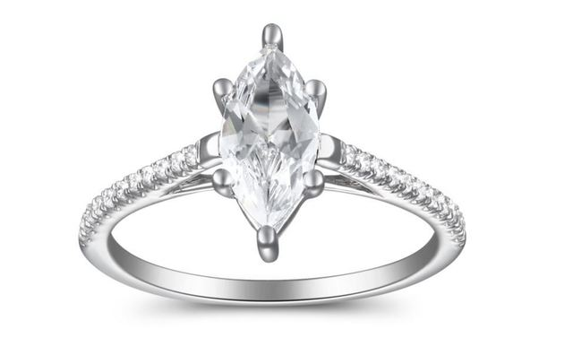 Martin Flyer Marquise Pave Engagement Ring image 2