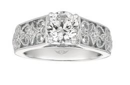 Martin Flyer Filigree Sides Engagement Ring image 2