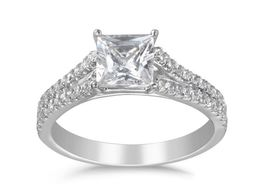 Martin Flyer Princess Cut Split Shank Engagement Ring image 2