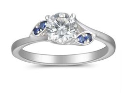 Martin Flyer Sapphire Accent Engagement Ring image 2