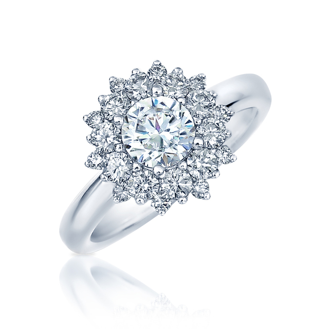 Fredrick Sage Starbust Diamond Engagement Ring image 2