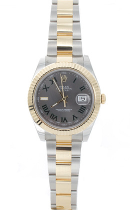 Rolex Pre - Owned 41mm Gents Steel and Gold Datejust image 2
