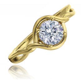 Fredric Sage 14kt Yellow Gold Twist Engagement Ring image 2