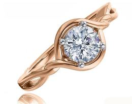 Fredric Sage 14kt Rose Gold Twist Engagement Ring image 2
